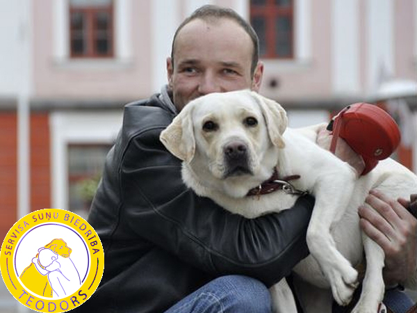 Chairman of the association Aleksejs Volkovs with his faithful friend Teodors  October 2014