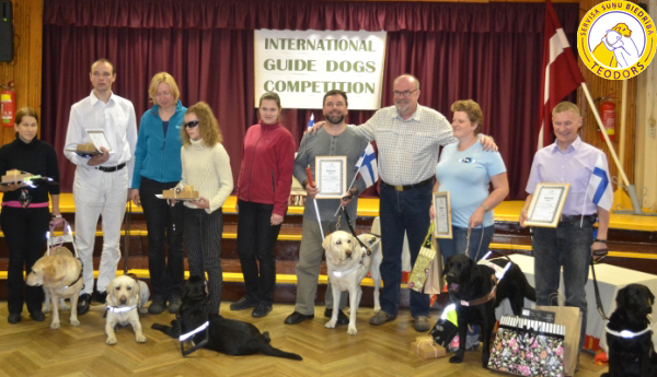 Members and referees of the of International guide dog competition in Riga October 2013
