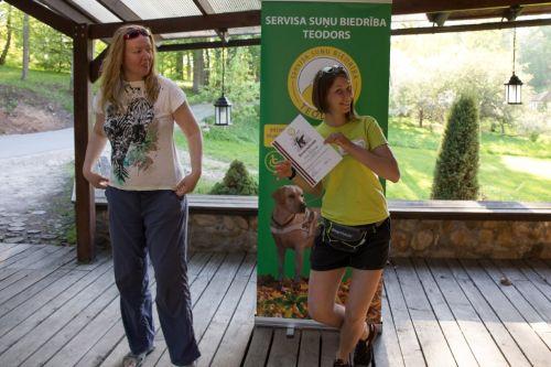 The association thanks our volunteer Liene Šternberga
