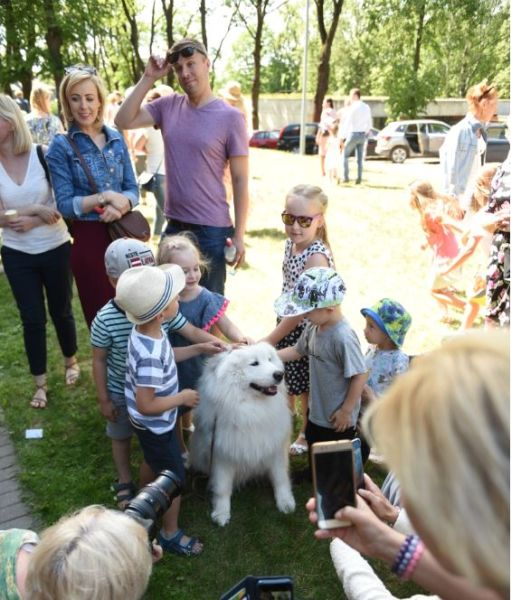Everyone, especially children want to stroke the therapy dogs. Photo by Mārtiņš Zilgalvis