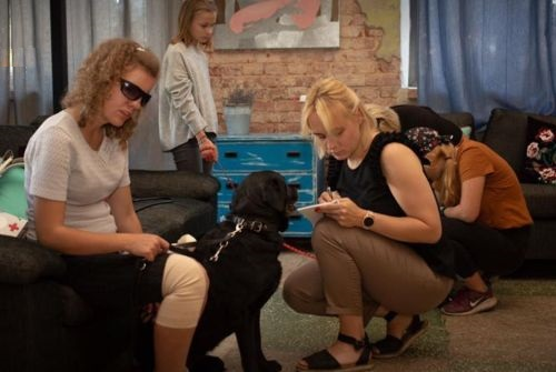 There was also a free health examination for our dogs at the camp. Thanks to veterinarians Liga Kovalcuka and Liene Avenina, as well as Jelgava LLU veterinary clinic and foundation!